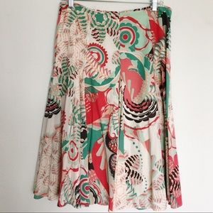 [Elie Tahari] Quirky Pastel Midi Skirt